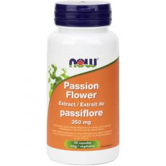NOW Passion Flower Extract 350mg, 90 VCaps