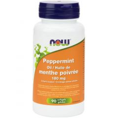 NOW Peppermint Oil, 90 Enteric Coated Softgels