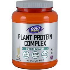 NOW Plant Proteins 100% Natural (Pea, Hemp, Quinoa & Rice), 2lb / 907g