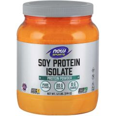 NOW Pure Soy Isolate (Non-GMO), 544g