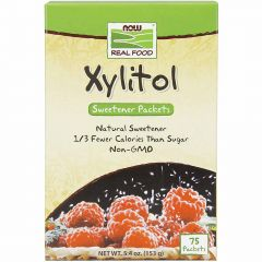 NOW Pure Xylitol Packets, 2g x 75 Packets