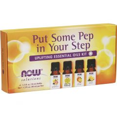 NOW Put Some Pep in Your Step Uplifting Essential Oils (Orange, Lemon, Grapefruit & Cheer Up Buttercup Blend), 4 x 10ml Bottles