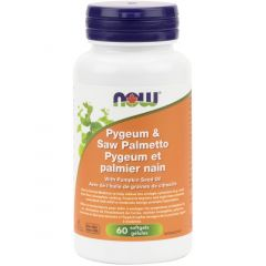 NOW Pygeum & Saw Palmetto, 60 Softgels