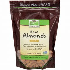 NOW Raw Almonds (Unsalted), 454g
