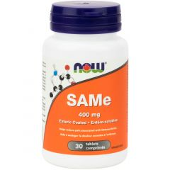 NOW SAMe, 400mg, Elemental Enteric Coated, 30 Tablets