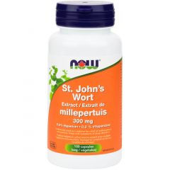 NOW St. John's Wort 300mg (Concentrated), 100 Capsules