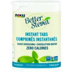 NOW Stevia Dissolving Instant Tabs, 175 Tablets