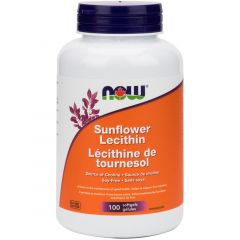 NOW Sunflower Lecithin (Non GMO) 1200mg, 100 Softgels