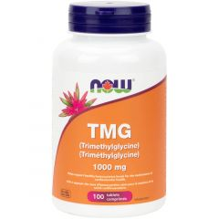 NOW TMG (Trimethylglycine), 100 Tablets