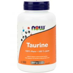 NOW Taurine Powder (100% Pure and Non-GMO), 227g