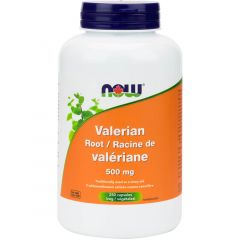 NOW Valerian Root 500mg (Stress Support and Sleep Aid)
