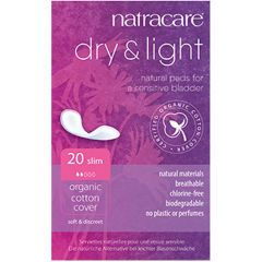 Natracare Organic Dry & Light Incontinence Pads, 20 Pads