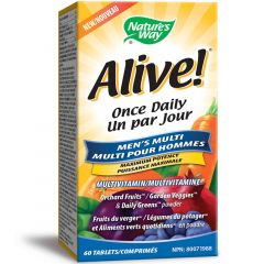 Nature's Way Alive! Men's Once Daily with L-Arginine Multivitamin & Multimineral, 60 Tablets