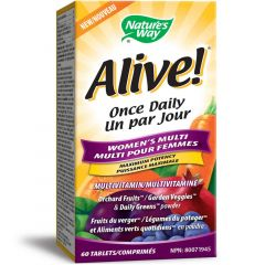 Nature's Way Alive! Women's Once Daily with Green Tea Extract Multivitamin & Multimineral, 60 Tablets