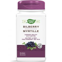 Nature's Way Bilberry Standardized, 60 Vegetable Capsules