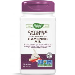 Nature's Way Cayenne-Garlic, 100 Vegetable Capsules
