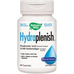 Nature's Way Hydraplenish Hyaluronic Acid (Made with BioCell Collagen), 60 Vcaps