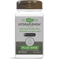 Nature's Way Hydraplenish with MSM & Hyaluronic Acid, 60 Vcaps