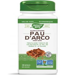 Nature's Way Pau d'Arco 545mg, Inner Bark (For Sore Throat and Colds)
