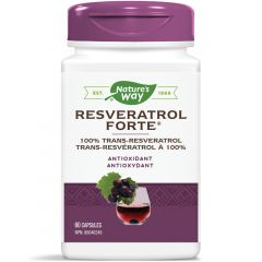Nature's Way Resveratrol Forte, 60 Capsules (Formerly Enzymatic Therapy)