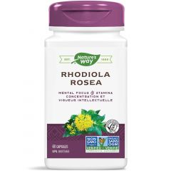 Nature's Way Rhodiola Rosea Standardized Extract, 60 Vcaps