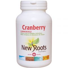 New Roots Cranberry 600mg, 60 Capsules