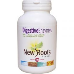 New Roots Digestive Enzymes, 100 Capsules