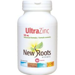 New Roots Ultra Zinc 50mg, 90 Vegetable Capsules