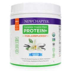 New Chapter Complete Organic Plant Protein+ Fuel & Replenish Chocolate, 20 Servings