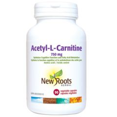New Roots Acetyl-L-Carnitine 750mg, 90 Capsules