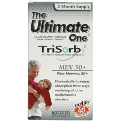 Nu-Life The Ultimate One Trisorb Multivitamin for Men 50+ (2 Month Supply), 60 Caplets