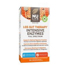 Nu-Life LGS Gut Therapy Opti-Zyme Digestive Intensive Enzymes, 90 Vegetarian Capsules