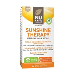 Nu-Life Sunshine Therapy (Helps Improve Mood & SAD), 60 Vegetarian Capsules