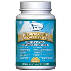 Omega Alpha High Potency Fish Oil Concentrate, 90 Gel Capsules