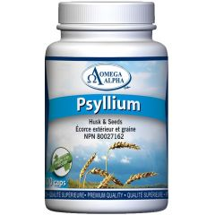 Omega Alpha Psyllium (Seed and Husk), 100 VCapsules