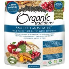 Organic Traditions Smooth Movement Fibre Blend with Tumeric, 200g