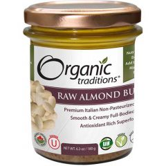 Organic Traditions Almond Butter (Raw), 180g
