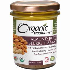 Organic Traditions Almond Butter (Roasted), 180g