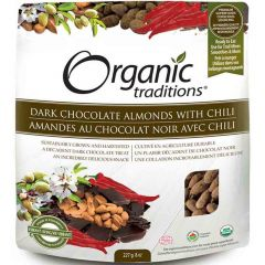Organic Traditions Almonds with Chili (Dark Chocolate Covered)