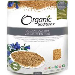 Organic Traditions Golden Flax Seeds, 454g