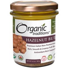 Organic Traditions Hazelnut Butter (Roasted), 180g