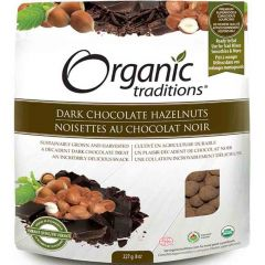 Organic Traditions Hazelnuts (Dark Chocolate Covered)