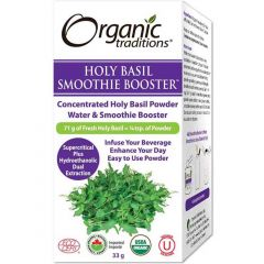 Organic Traditions Holy Basil Smoothie Booster (Formerly Full Spectrum Holy Basil), 33g