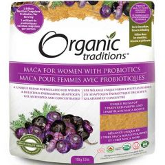 Organic Traditions Maca Women's Powder with Probiotics, 150g