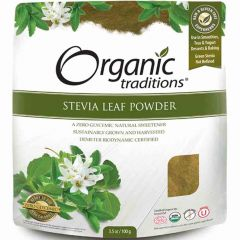 Organic Traditions Stevia Leaf Powder (Sustainably Grown and Harvested), 100g
