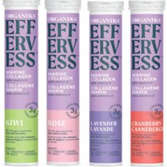 Organika Effervess Marine Collagen and Vitamin C (3g Delicious Effervescent Collagen per serving)