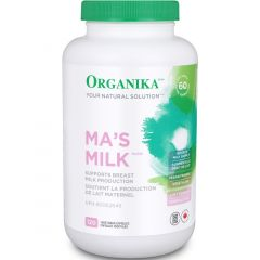 Organika Ma's Milk 3-in-1 Lactation Booster (Fenugreek, Blessed Thistle and Moringa) 120 Capsules