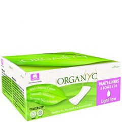 Organ(y)c Panty Liners, Light Flow, 100% Organic Cotton, 24 Liners