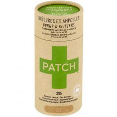 Patch Bamboo Natural Adhesive Bandages, Breathable & Hypoallergenic (Kids and Adults), 25 Pack