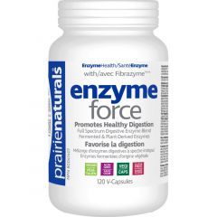 Prairie Naturals Enzyme-Force with Fibrazyme (Fermented and Plant Derived Enzymes)